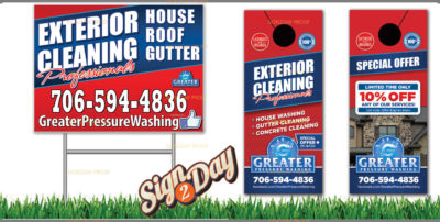 Yard signs and door hangers by Sign2Day