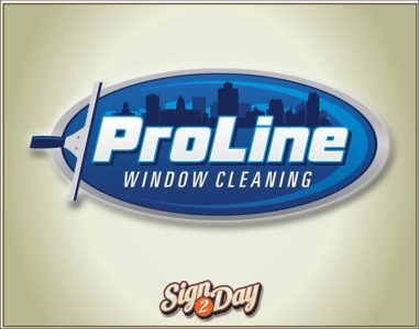 Custom window cleaning company logo by Sign2Day