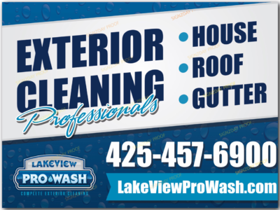 Yard sign by Sign2Day for pressure washing company