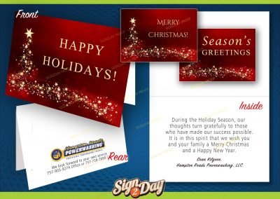 Holiday marketing by Sign2Day marketing company collateral